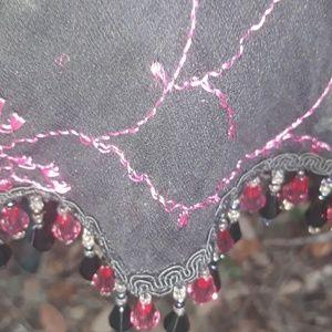 Betsey Johnson Dresses - Betsey Johnson pink and black jeweled dress Xs